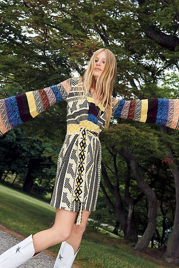 Patchwork Sweater Dress $198