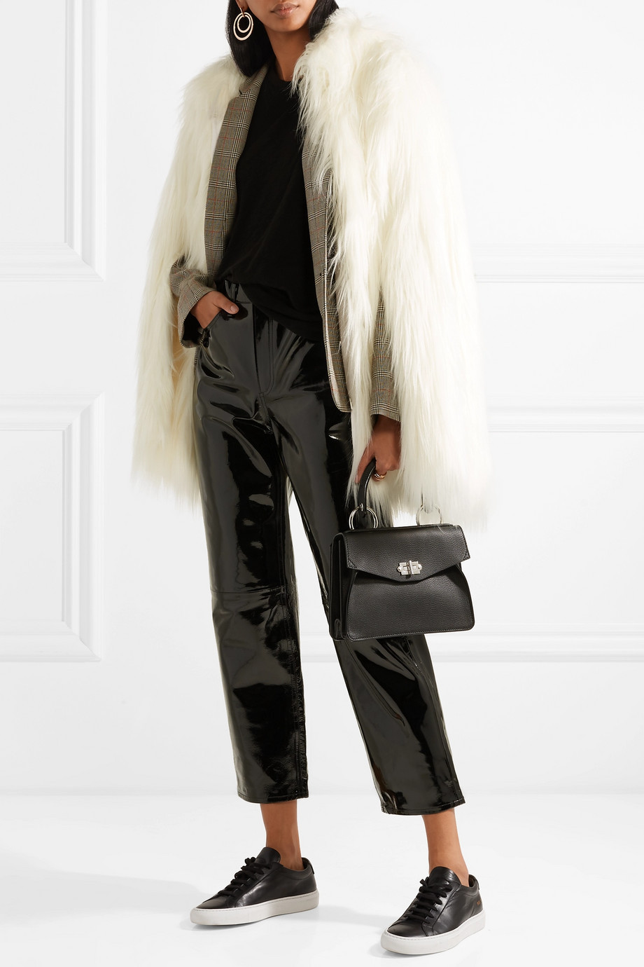 House of Fluff Yeti convertible oversized faux fur coat $198