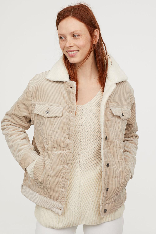 H&M Pile-lined Corduroy Jacket $59.99