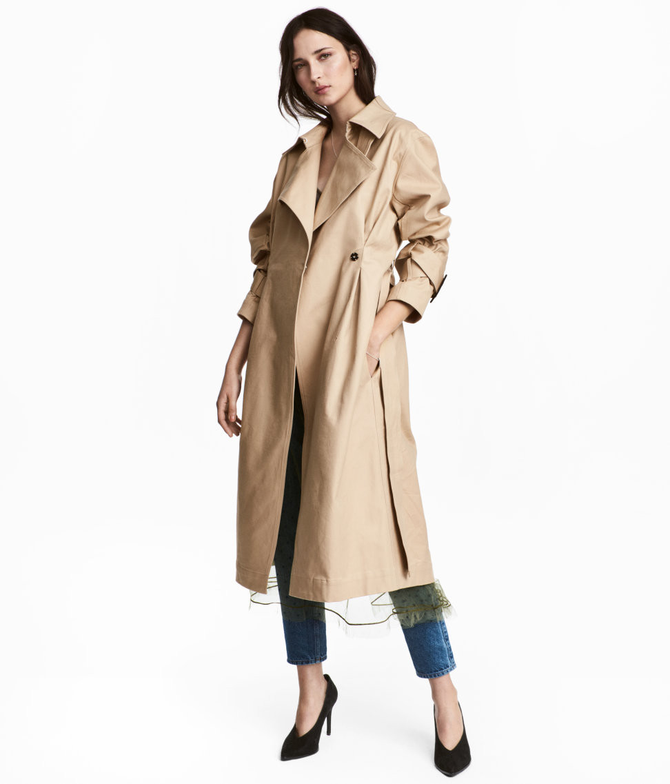H&M Cotton Twill Trench Coat $129