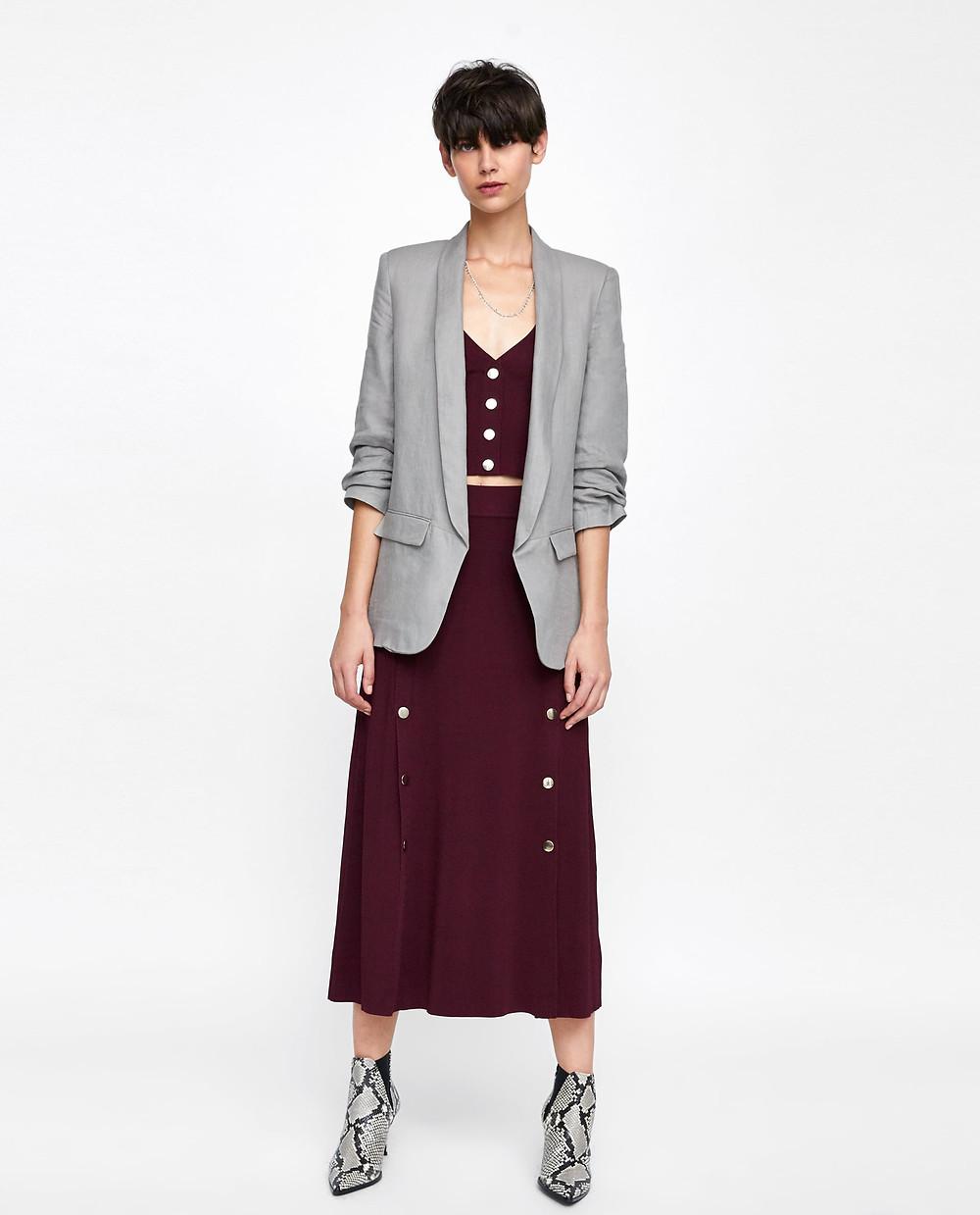 Zara Blazer with Pleated Sleeves $119