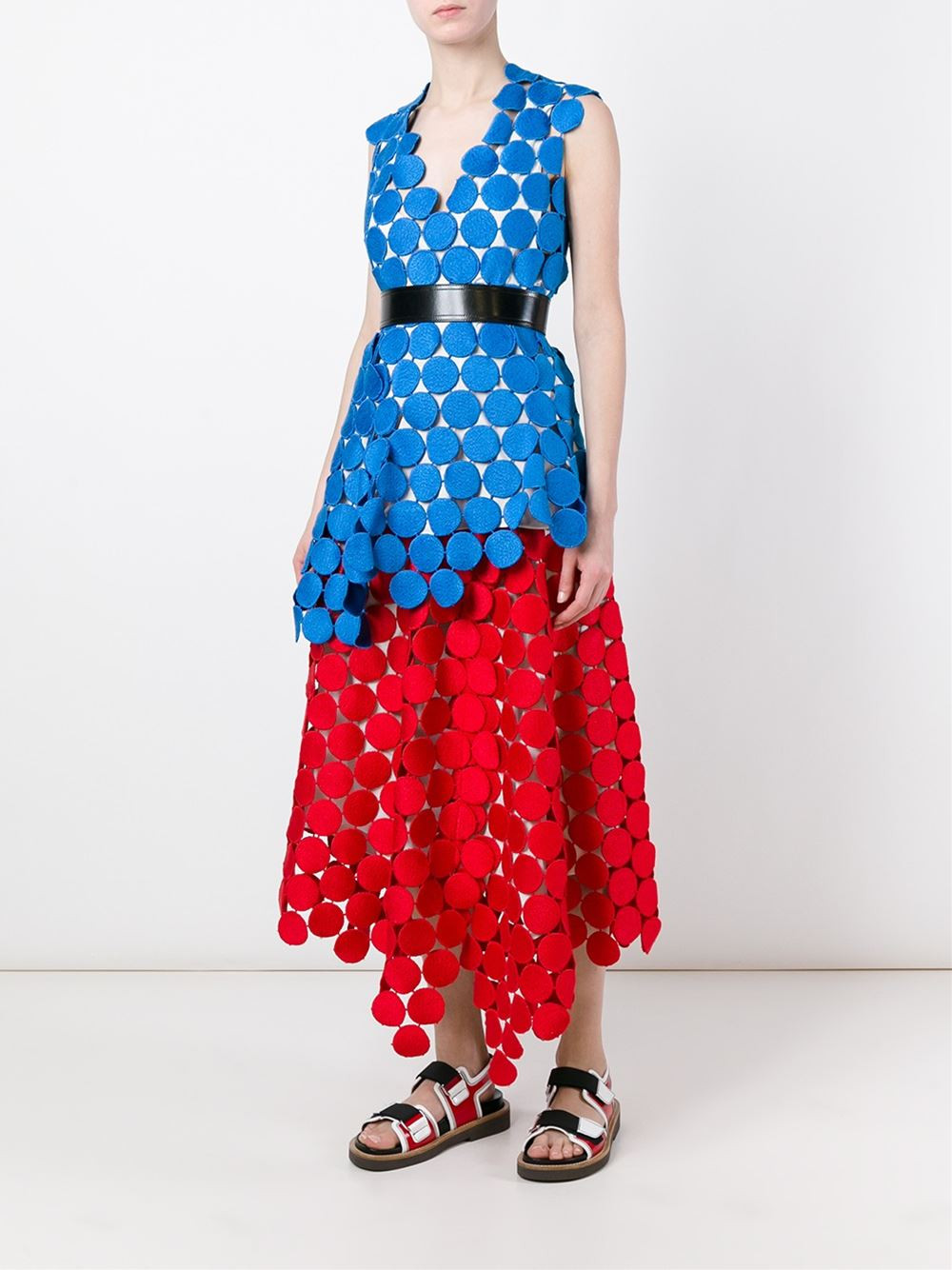 Marni 'Dot in Macramé' top now $918 (for the skirt please click the link below)