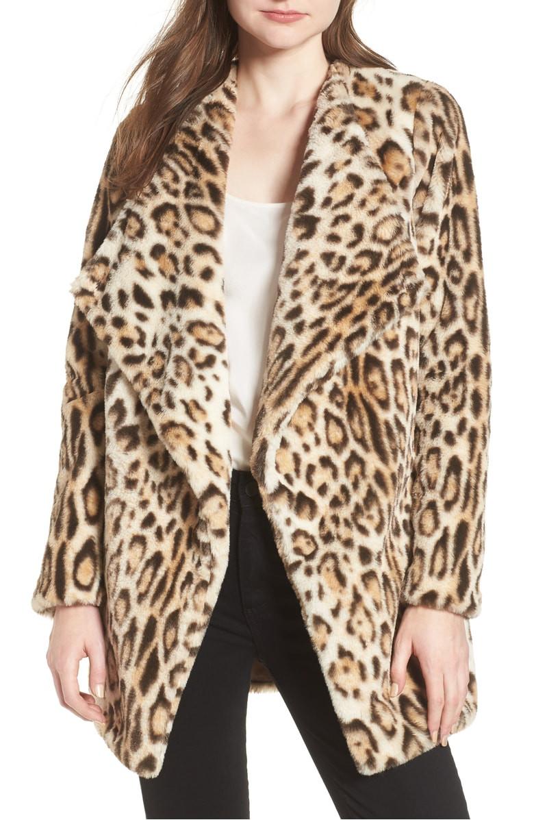 BB Dakota Leopard Faux Fur Jacket $79.90