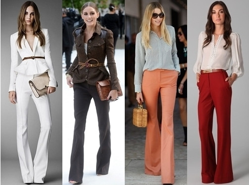 The wide legged pant is always great for work