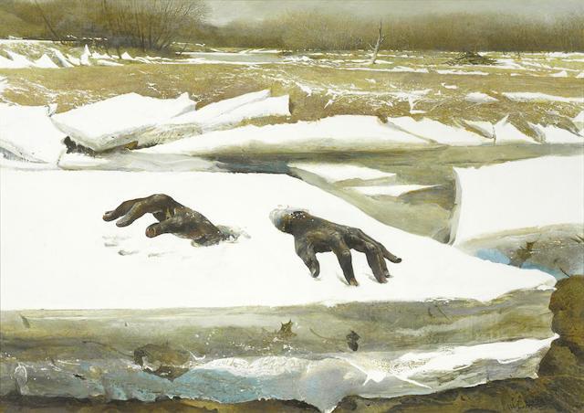 Andrew Wyeth at Bonhams Art Auction