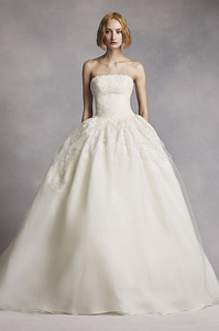 Limited Edition White by Vera Wang Twill Gazar Lace Wedding Dress $1,898-$1,948