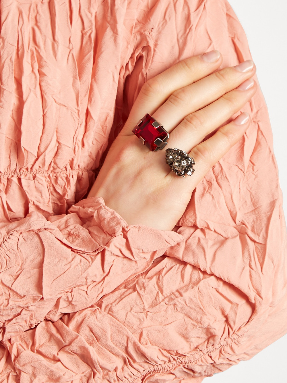 Marni  Double-stone ring now $174
