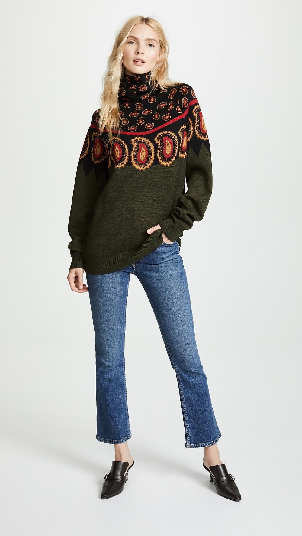 Toga Pulla Wool Jacquard High Neck Sweater $630