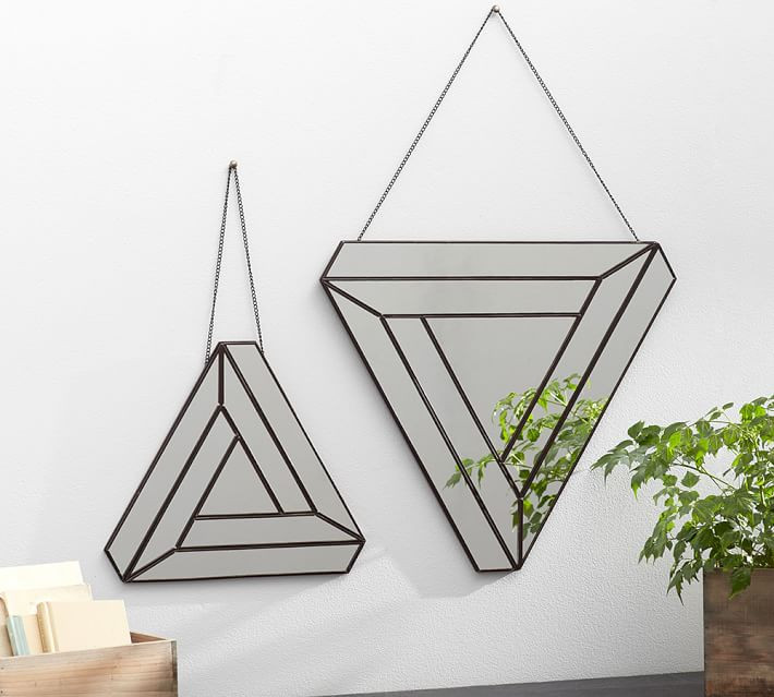 Kacey Triangle Geo Mirror-Set of 2 $199 sold at Pottery Barn