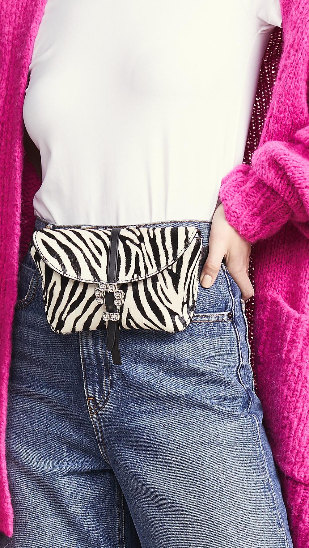 3.1 Phillip Lim Zebra Print Hudson Belt Bag $350
