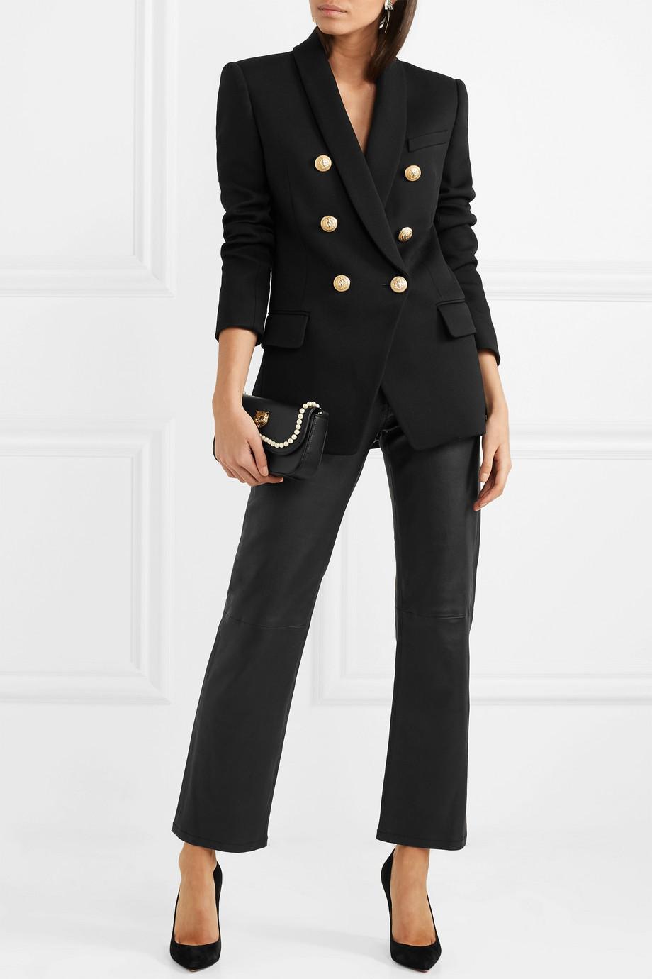 Balmain Double-breasted wool-twill blazer $2,090