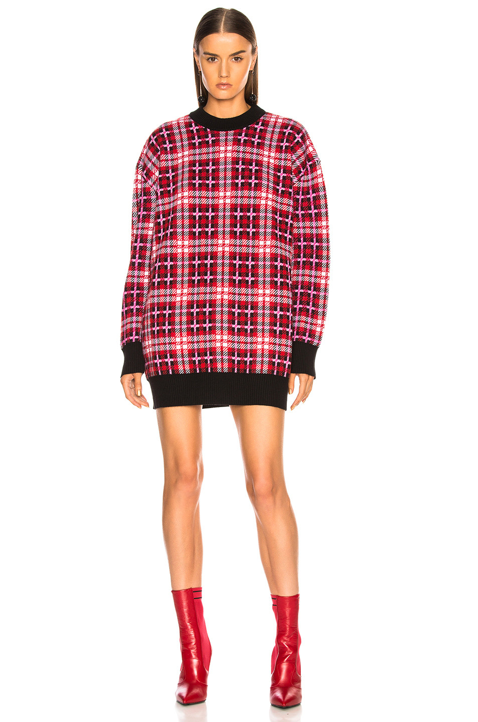 MSGM Checked Oversized Sweater $840