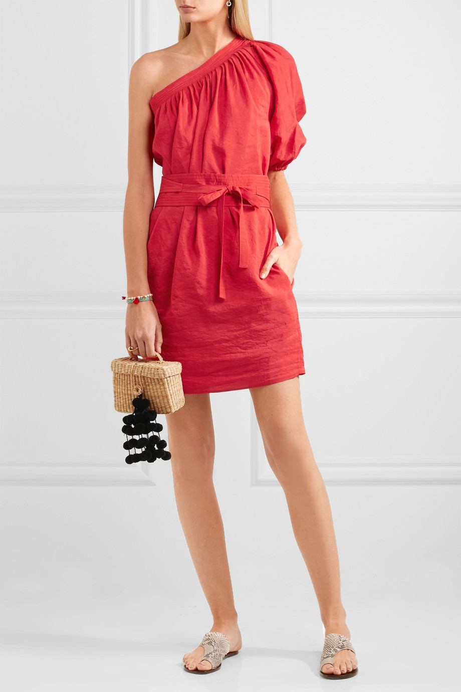 Vanessa Bruno Grace one-shoulder voile mini dress now $424