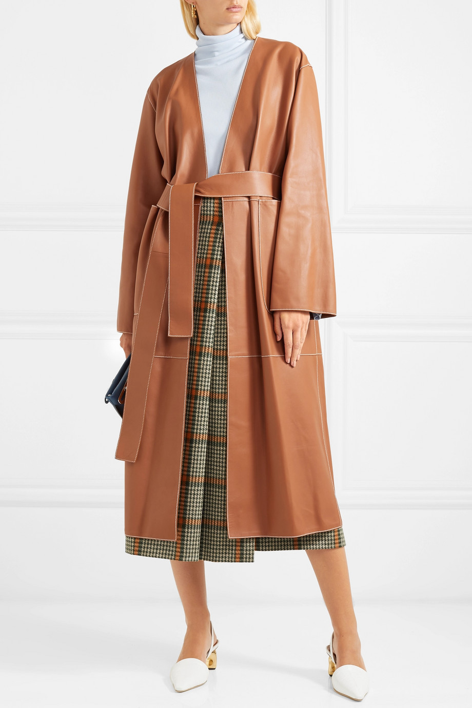 Loewe Belted leather coat $4,890