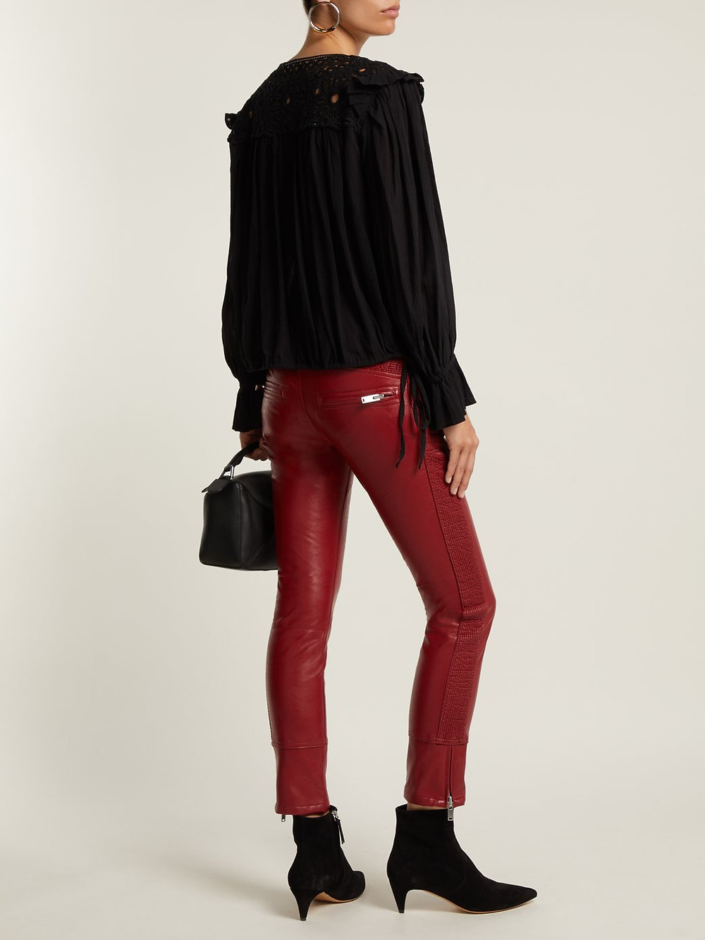 Isabel Marant Etoile Zappery faux-leather trousers $495