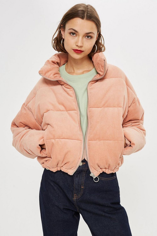 Topshop Tall Corduroy Puffer Jacket $110
