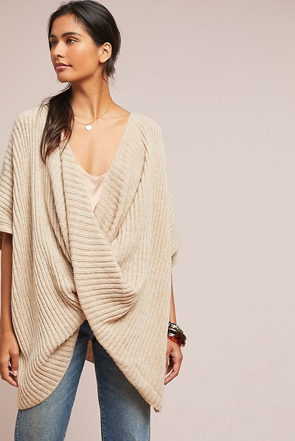 Twisted Ribbed Poncho $118