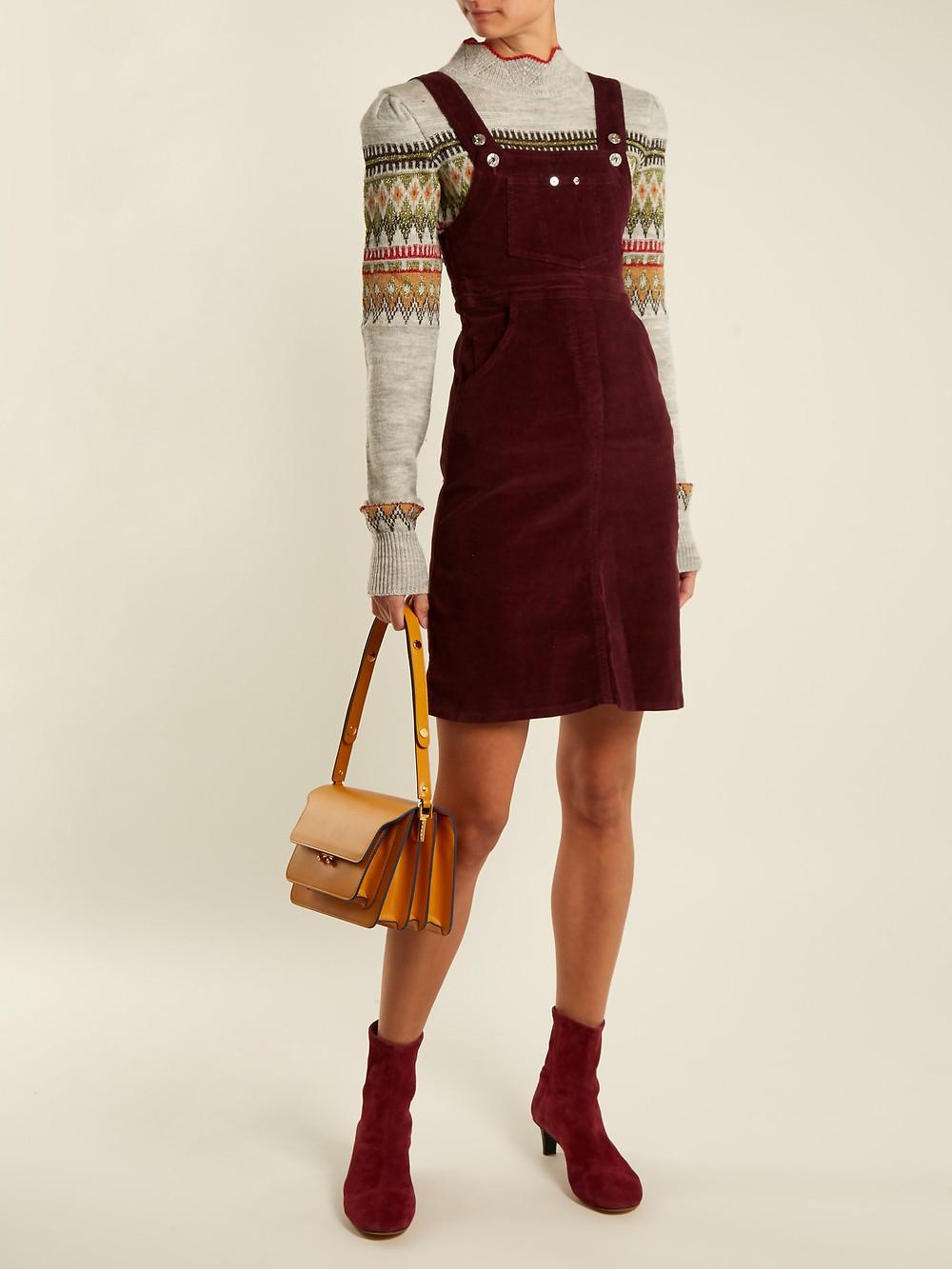 Eve Denim Marianne corduroy dress $204