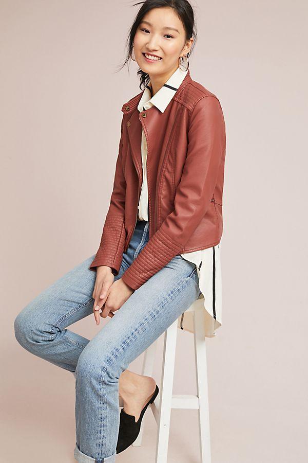 ett:twa Vegan Leather Moto Jacket $168