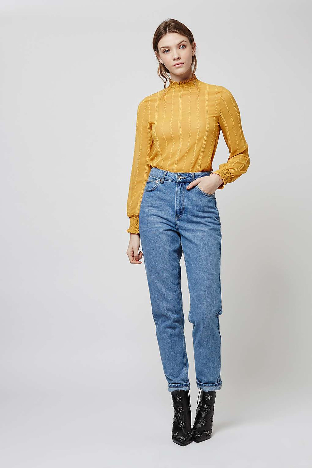 Topshop high neck blouse $75