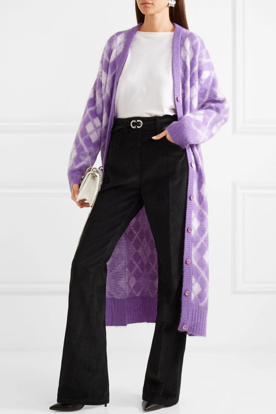 Miu Miu Oversized argyle mohair-blend cardigan $1,960