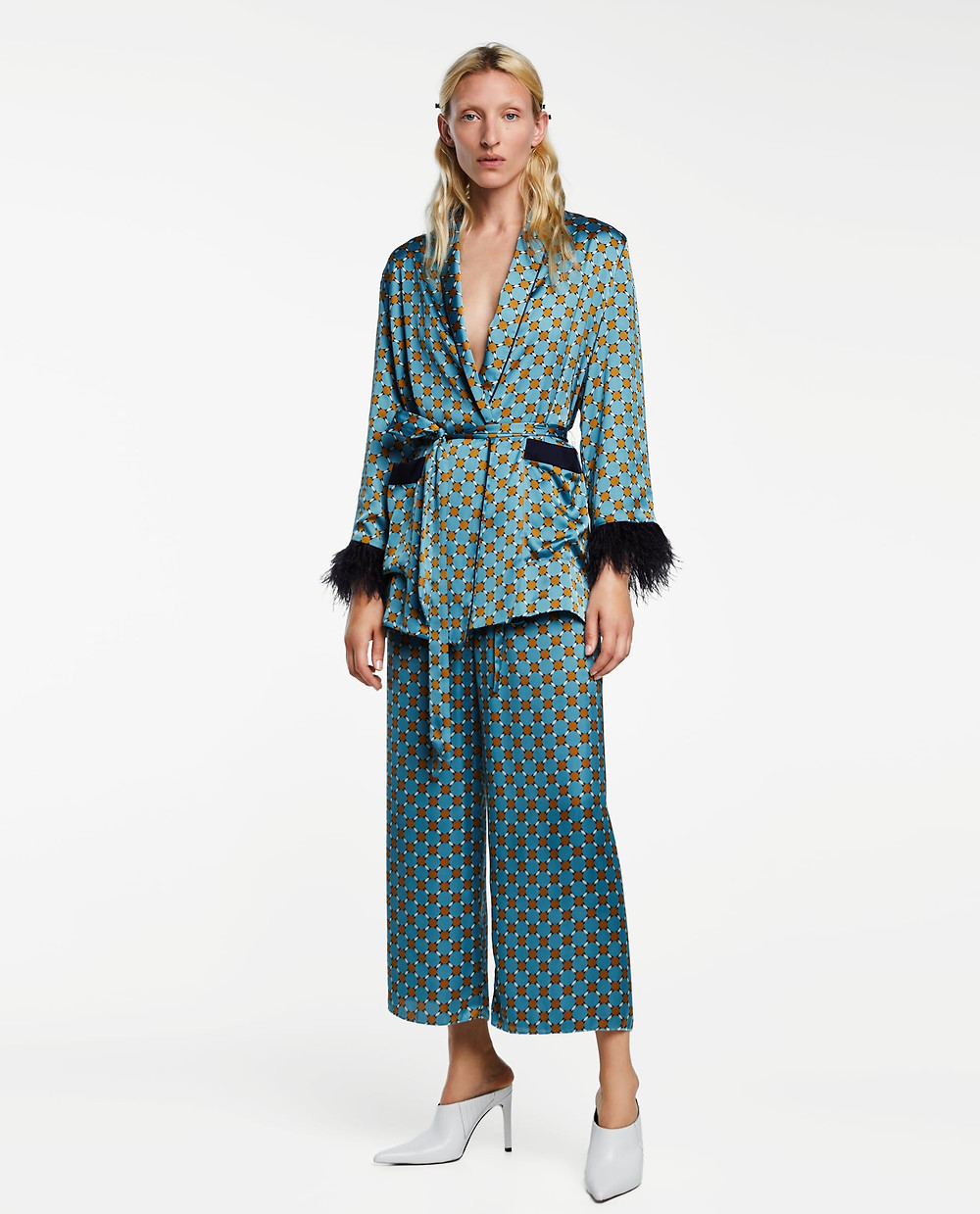 Zara Relaxed Fit Feathered Blazer $129