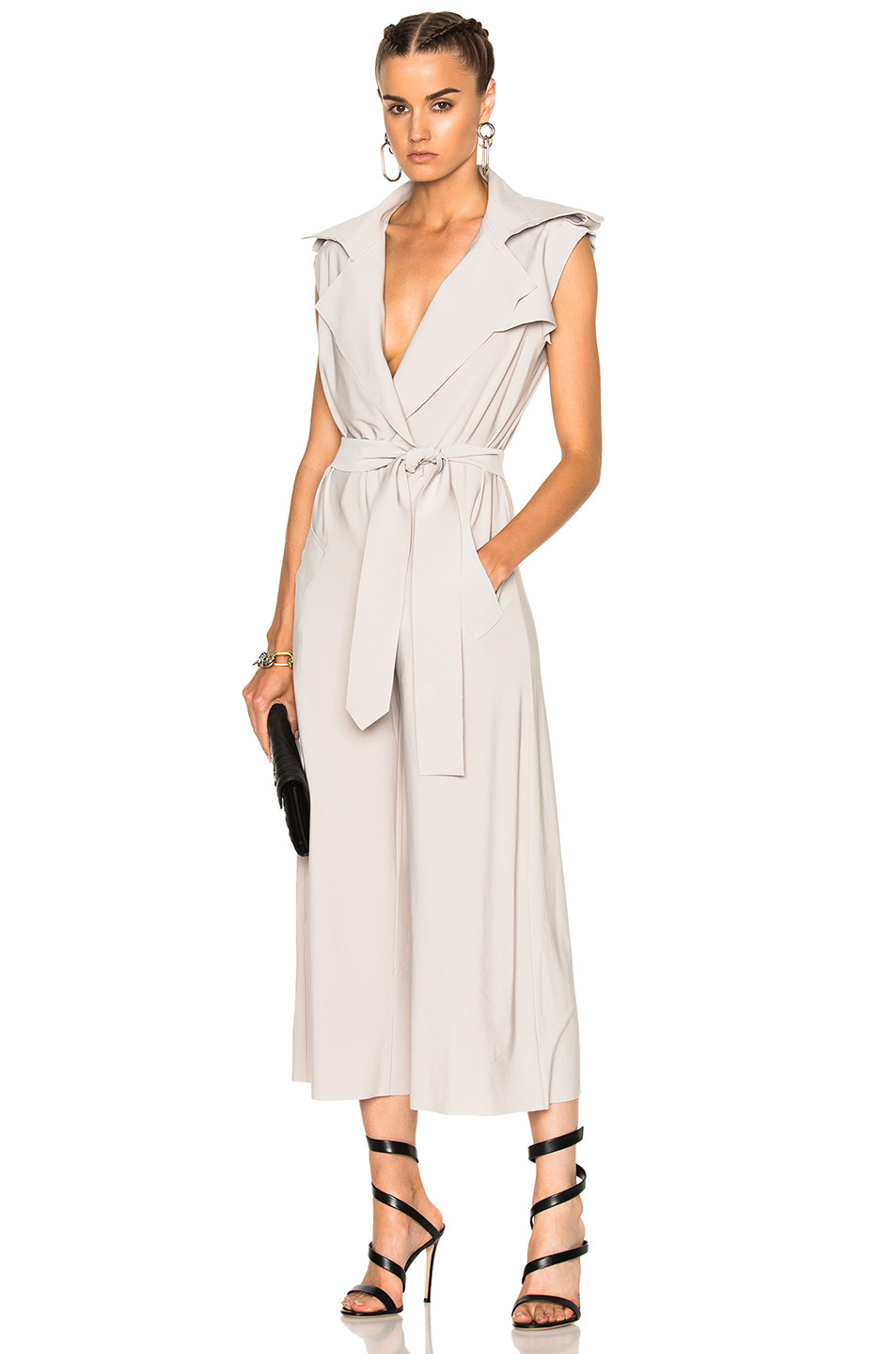 Norma Kamali Double Breasted Trench Jumpsuit $295