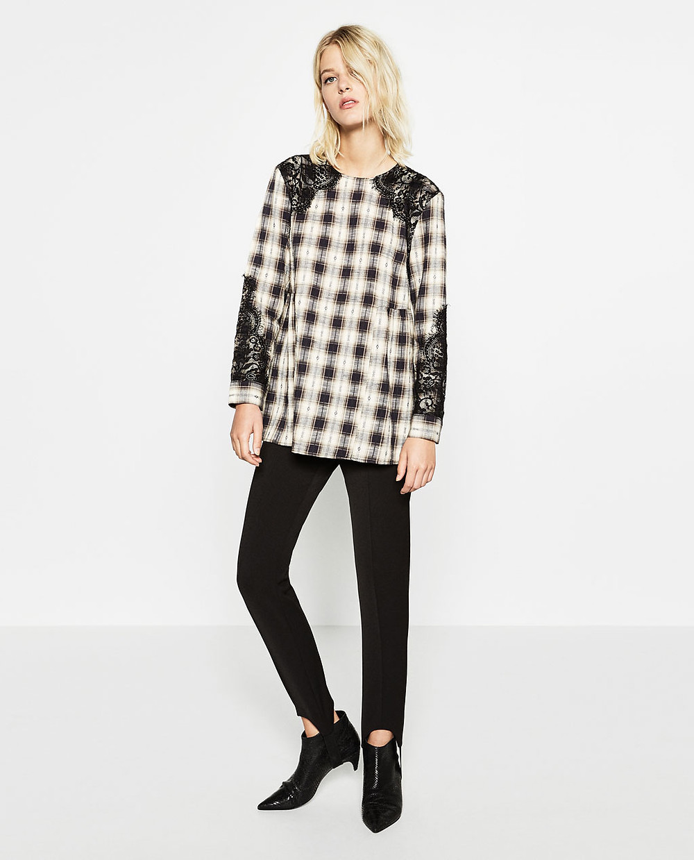 Zara Checked Tunic $49.90