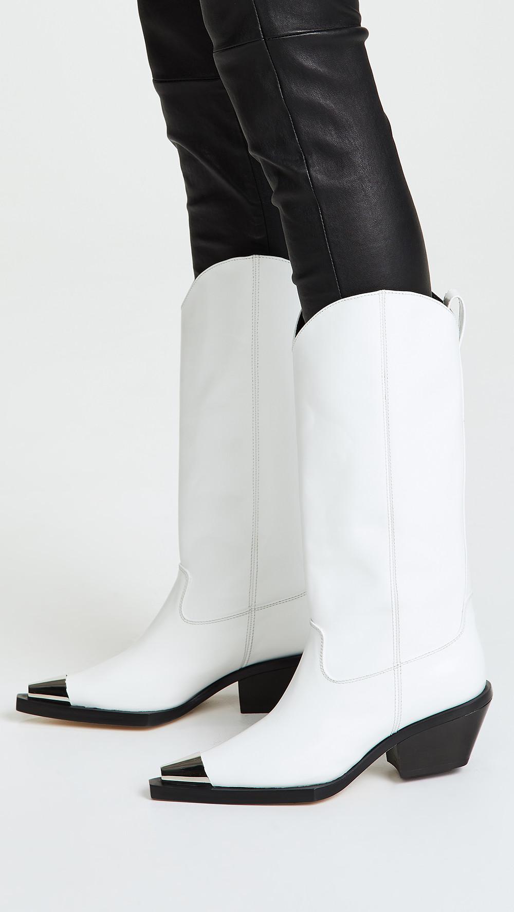 Helmut Lang Tall Cowboy Boots $895