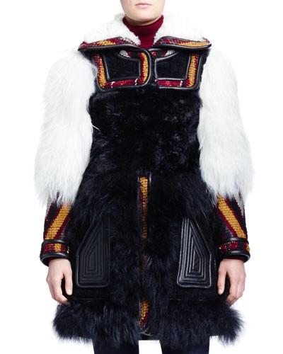Chloe- Persian tapestry shearling fur coat