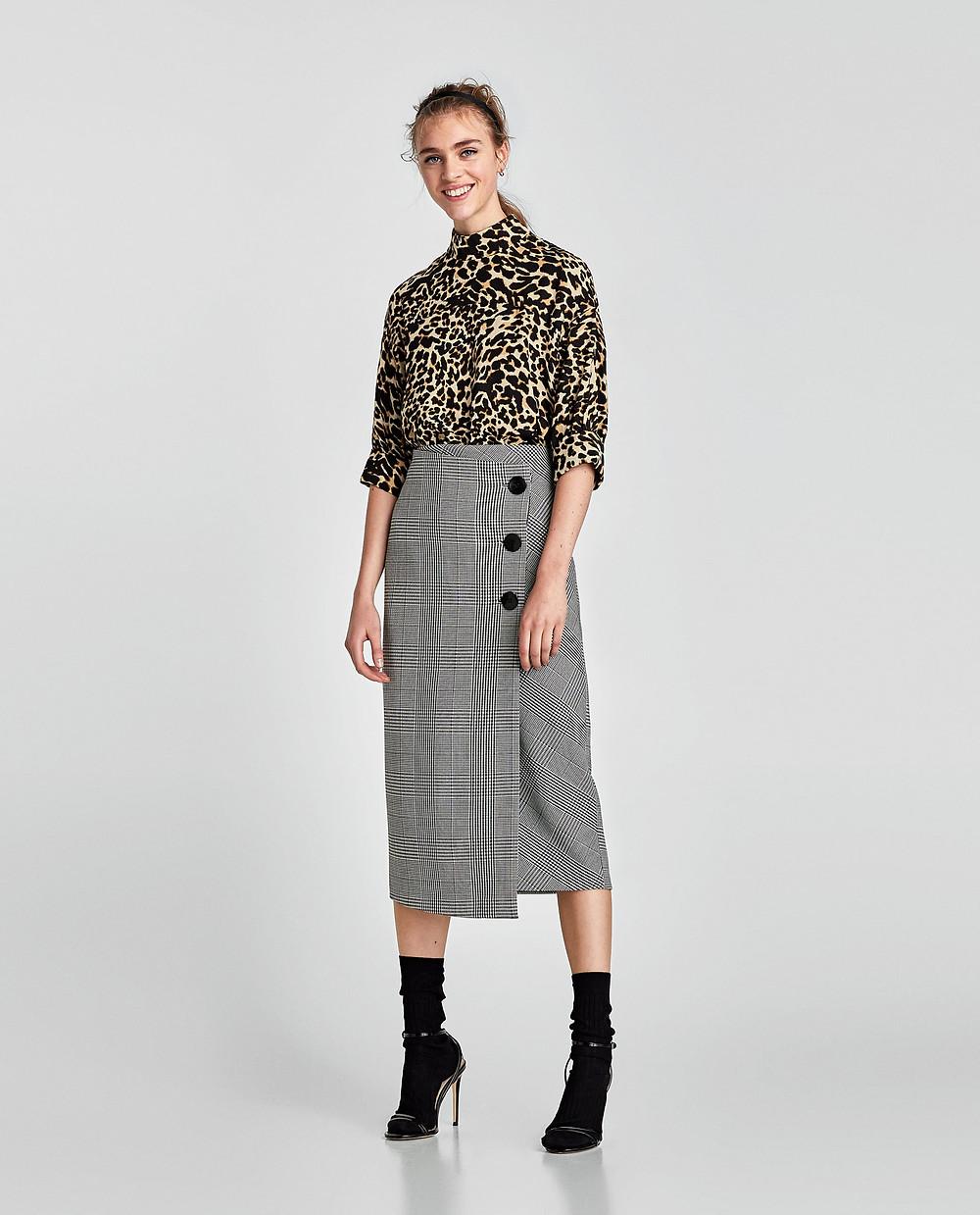 Zara Leopard Print High Neck Top $25.99