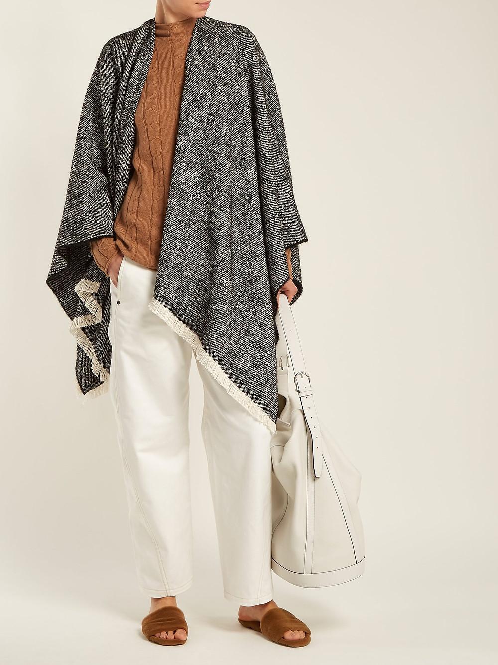 Weened Max Mara Fringe-trim knitted poncho $215