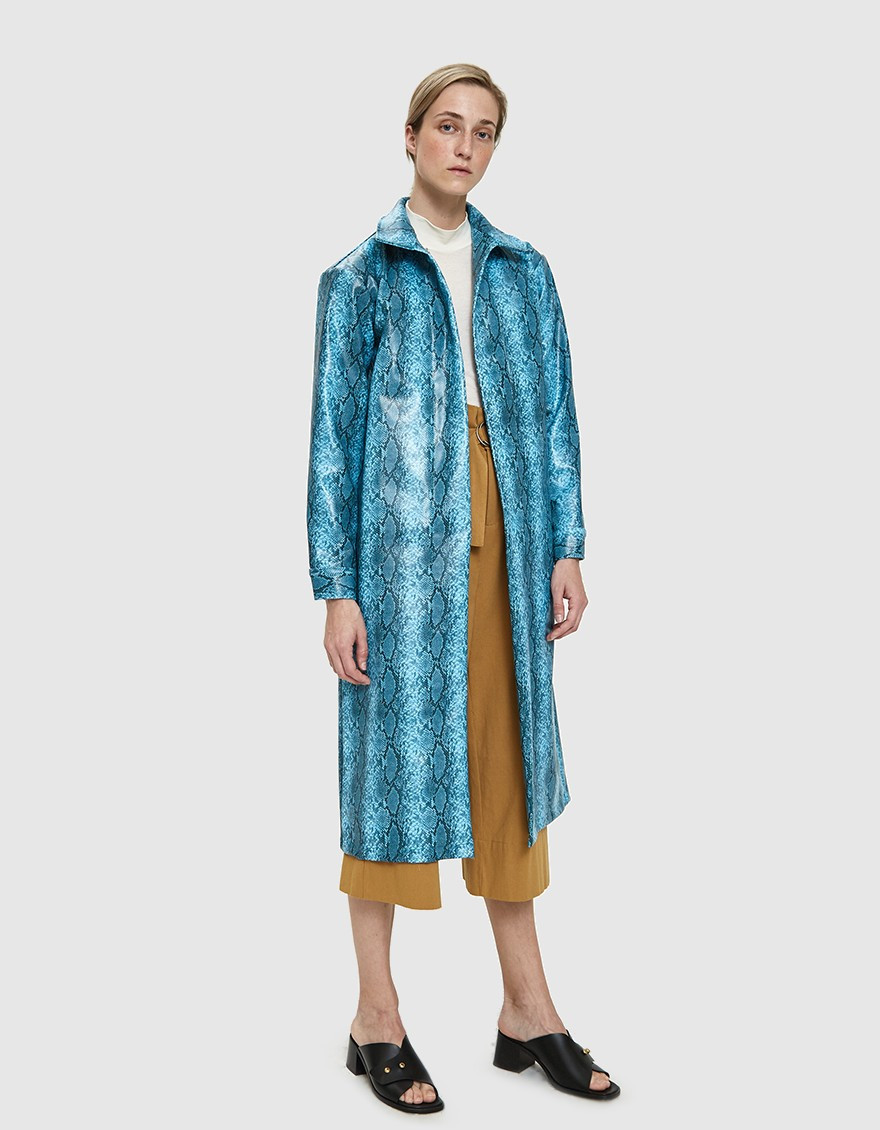 Need Supply Co. Collina Strada Mechanic Faux Snakeskin Trench $249.99
