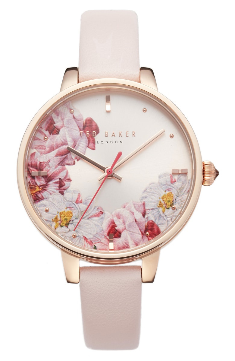 Ted Baker London Kate Leather Strap Watch, 36mm $89.90