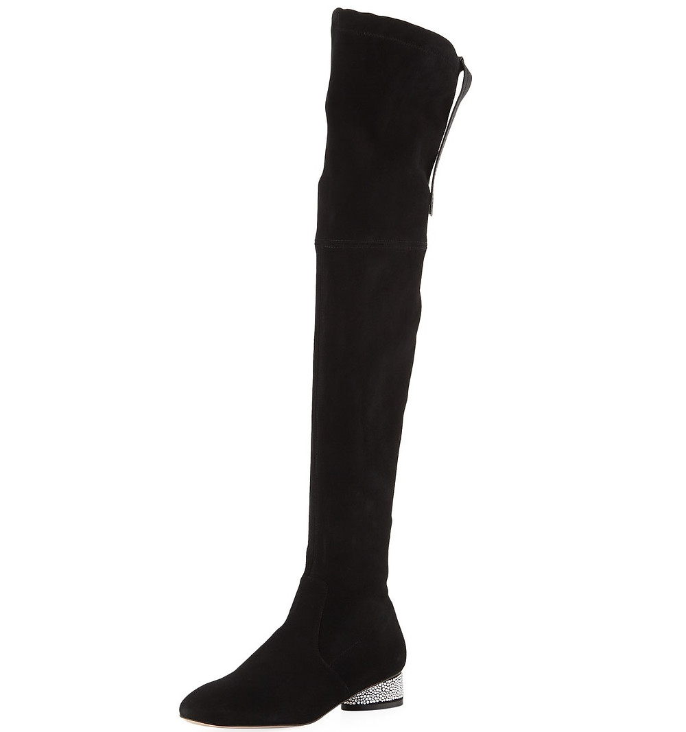 Stuart Weitzman Prism 30mm Suede Over-the-Knee Boots $898
