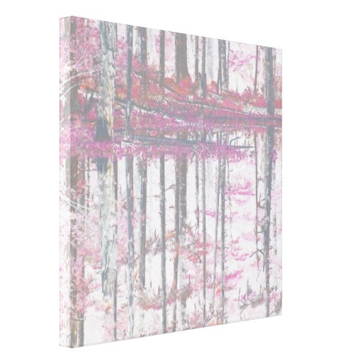 "Rose Quartz abstract forest @""Lighthouse Route"" Canvas Print $170.20 - available at Zazzle.com"