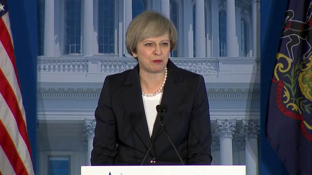 UK Prime Minister Theresa May Applauds Trump, Urges Caution on Russia in Speech - Read More from NBC News