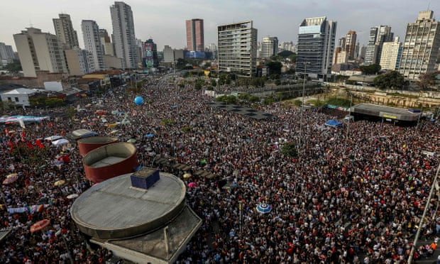 Huge protests in Brazil as far-right presidential hopeful returns home - Read More from The Guardian