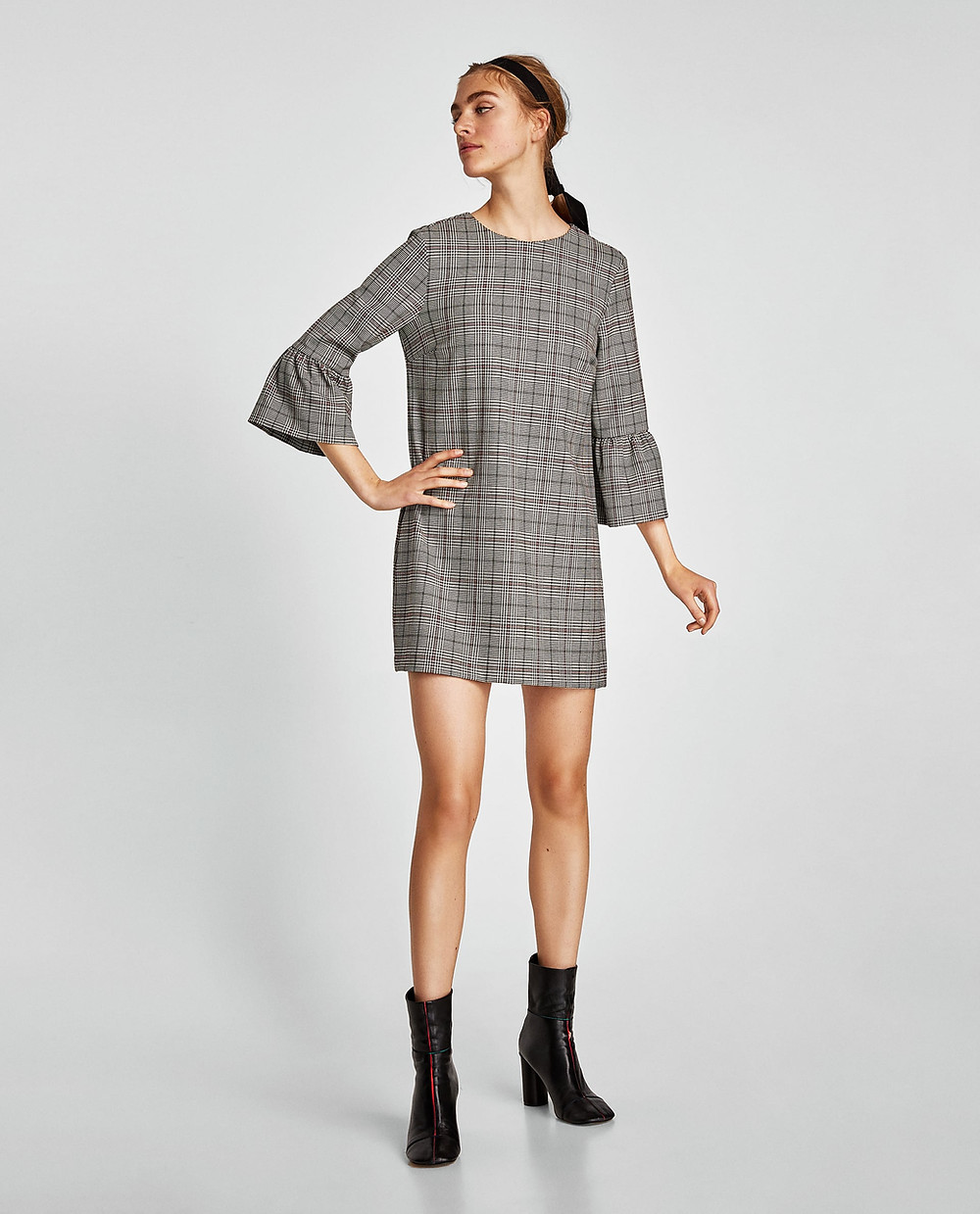 Zara Check Mini Dress $19.99