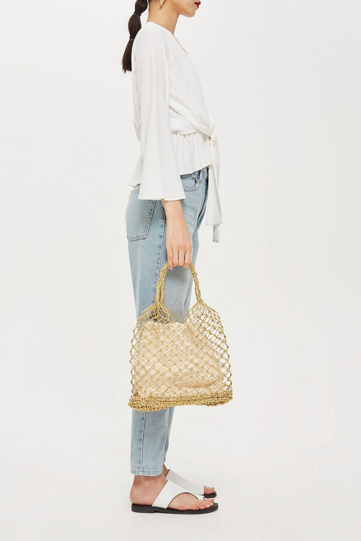 Topshop Shakira Woven Shopper Bag $38