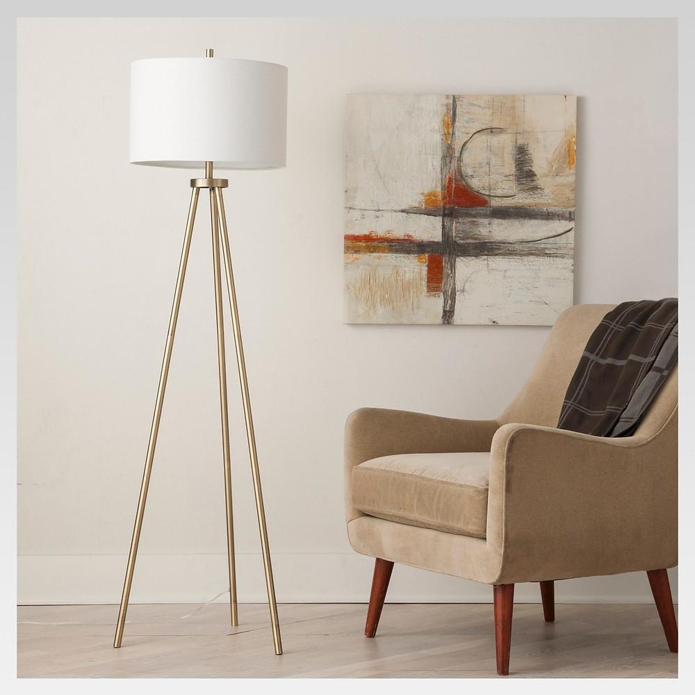 Ellis Tripod Floor Lamp Brass - Project 62™ $85.49