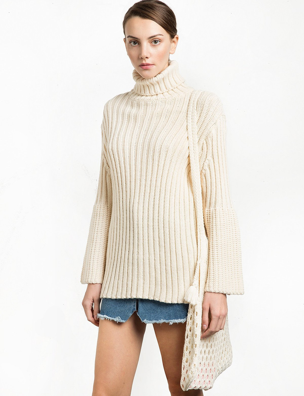 Pixie Market Knit Fisherman Net Shoulder Bag $64