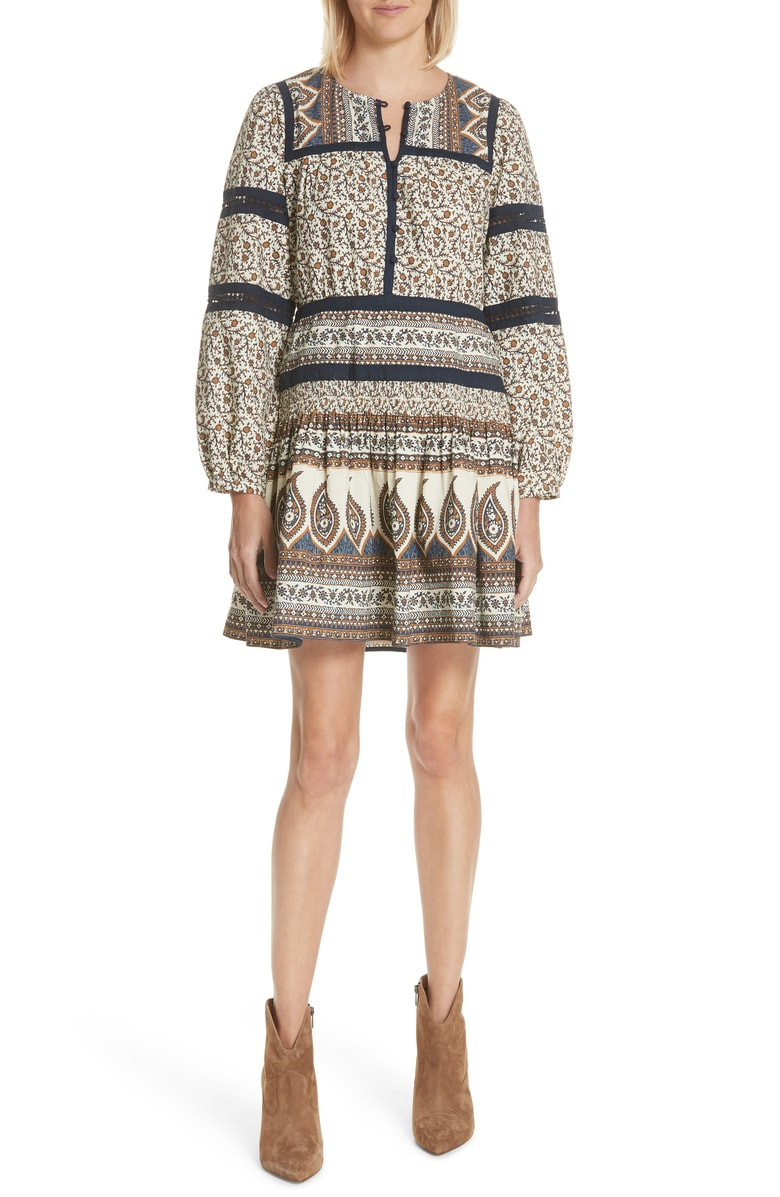SEA Contrast Binding Print Dress $279.90