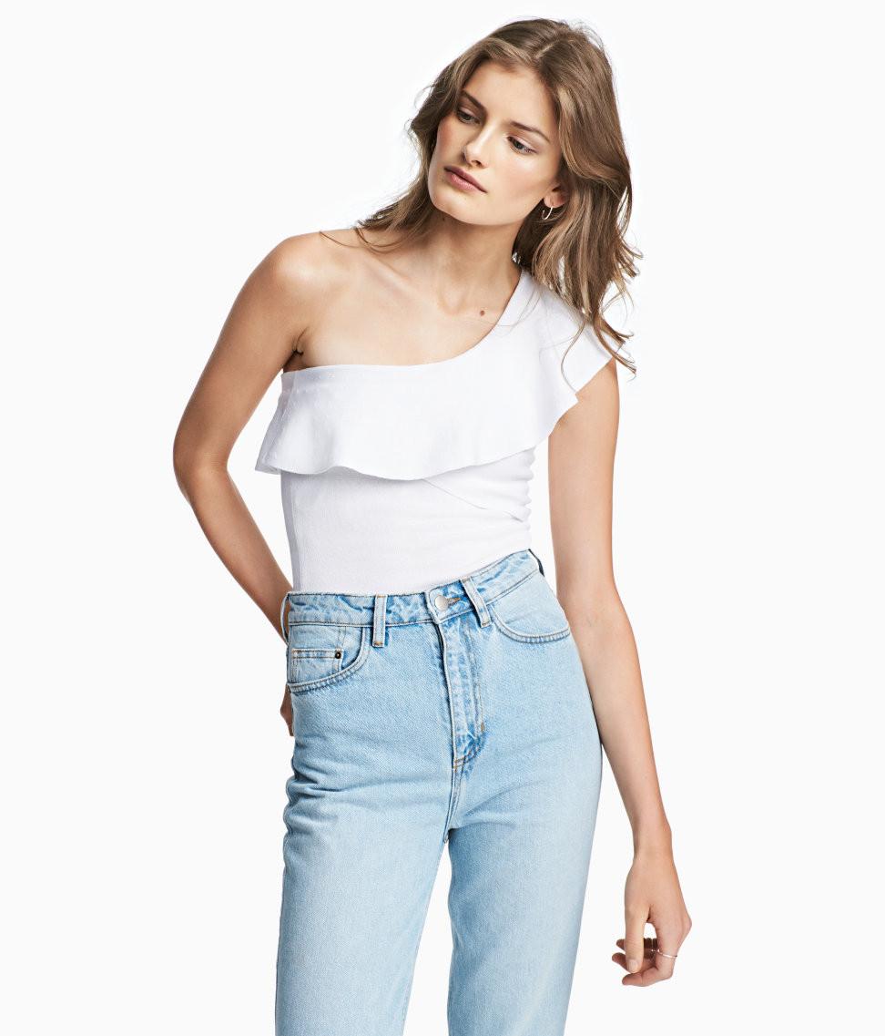H&M One-shoulder Top $34.99