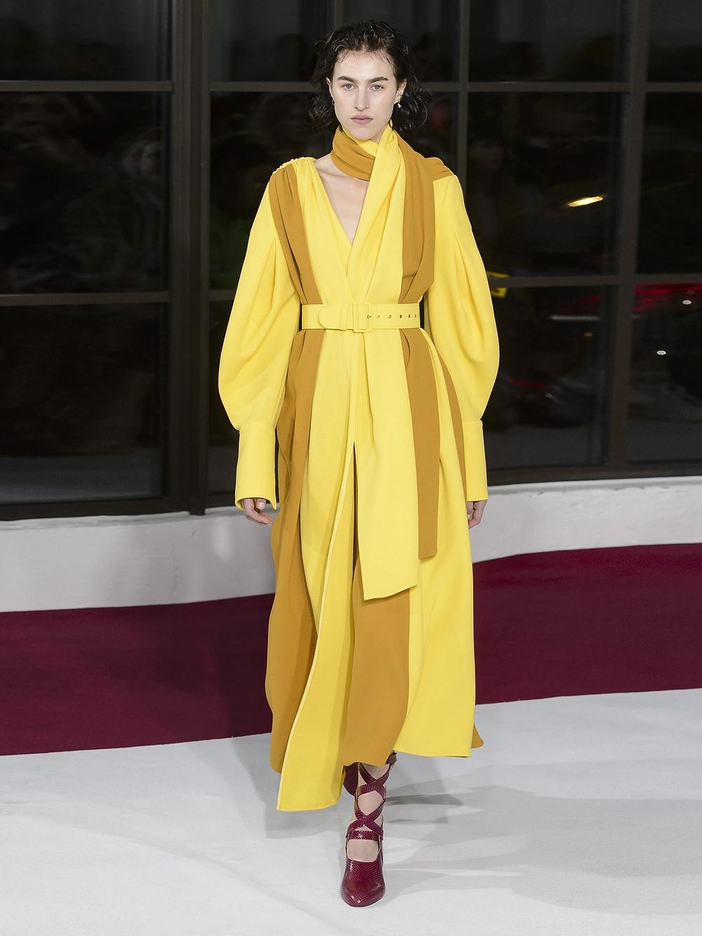 Emilia Wickstead Farell bi-colour wool-crepe dress $2,390