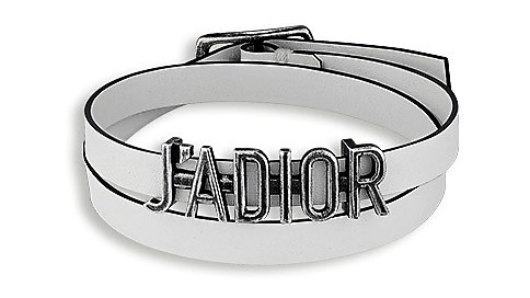 """""""j'adior"""" bracelet in Palladium Finish Aged Metal $450 --sold as a bracelet but can be worn as a choker --- comes in black and red"""