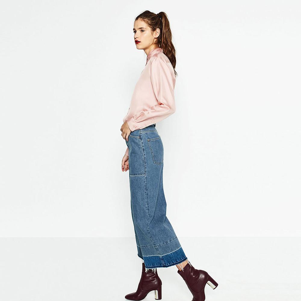 Zara Burgundy Heel Detail Ankle Boots $69.90