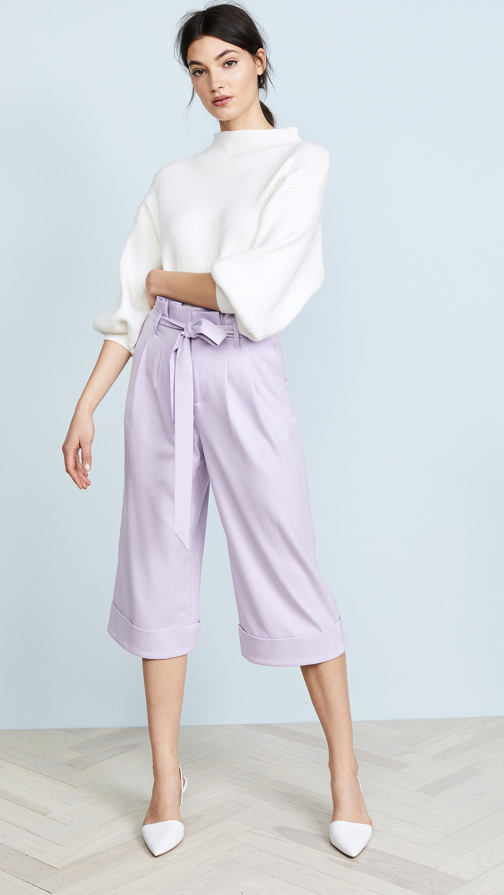 Alice + Olivia Ryan Paper Bag Pants $199.50- the rest of the look is not on sale - but I have linked them below