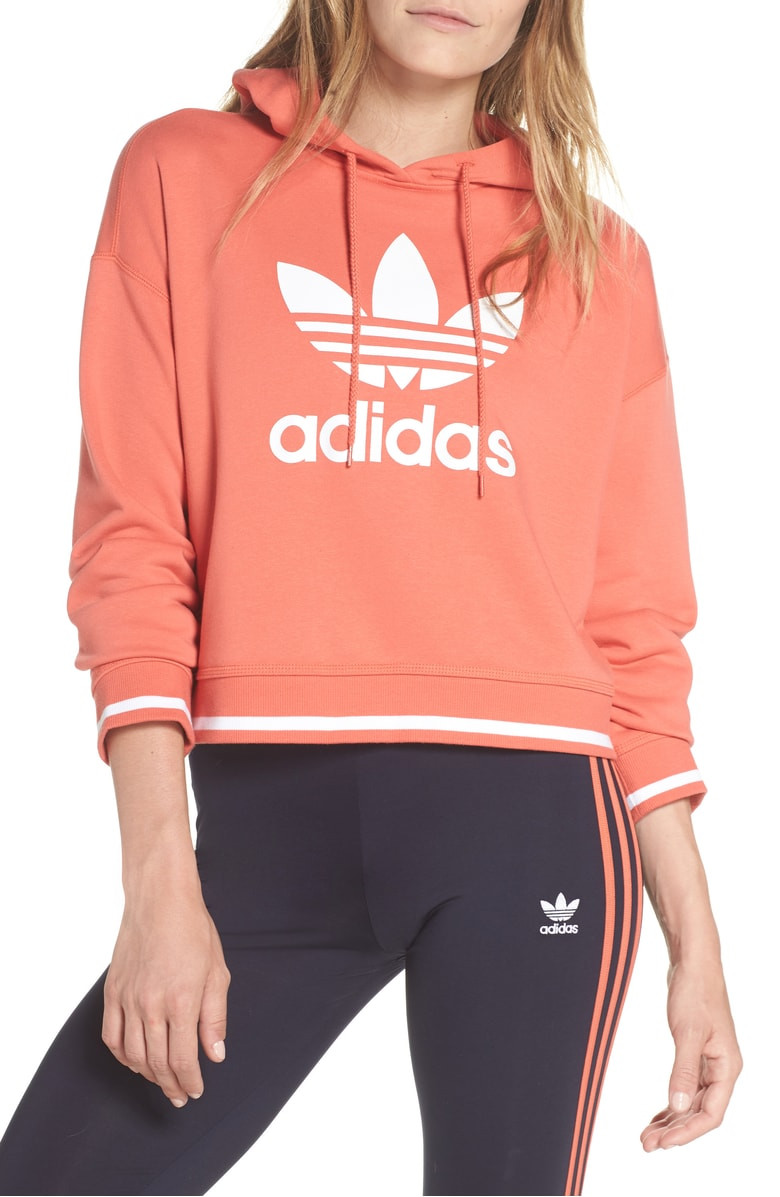 Adidas Active Icons Cropped Hoodie $47.90