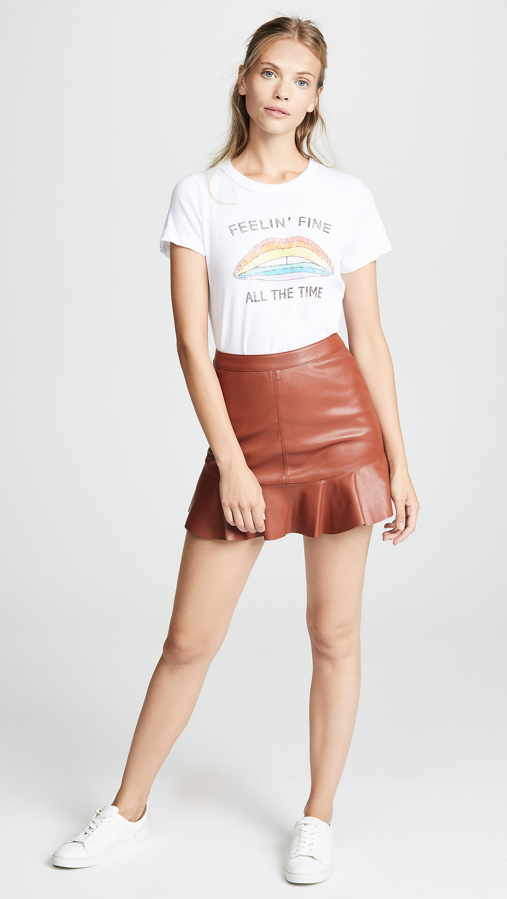BB Dakota Veni Vidi Vici Vegan Leather Miniskirt $80